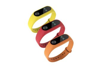 (Red,Yellow,Orange) - Awinner Colourful Waterproof Replacement Bands for Xiaomi Mi Band 2 Smart Miband 2nd (No Activity Tracker) (Red,Yellow,Orange)