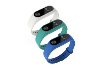 (White,Blue,Cyan) - Awinner Colourful Waterproof Replacement Bands for Xiaomi Mi Band 2 Smart Miband 2nd (No Activity Tracker) (White,Blue,Cyan)