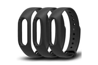 (3-Black) - Awinner Colourful Waterproof Replacement Bands for Xiaomi Mi Band 2 Smart Miband 2nd (No Activity Tracker) (3-Black)