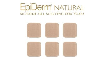 Epi-Derm Epi-Tabs (6) (Natural Squares) Silicone Scar Sheets from Biodermis