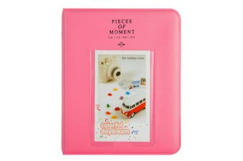 (64 Pockets, S Flamingo Pink) - CAIUL [Instax Mini 9 Photo Album] Compatible Pieces Of Moment Book Album for Films of Fujiflm Instax Mini 7s 8 8+ 9 25 26 50s 70 90 (64 Photos, Flamingo Pink)