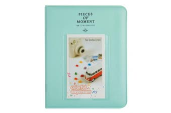 (64 Pockets, S Ice Blue) - CAIUL [Instax Mini 9 Photo Album] Compatible Pieces Of Moment Book Album for Films of Fujiflm Instax Mini 7s 8 8+ 9 25 26 50s 70 90 (64 Photos, Ice Blue)