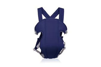 (Dark Blue) - SONARIN 2017 Simple and Lightweight Baby Carrier, Light, Convenient, Breathable,Free Size, Polyester,Ergonomic, 3 Carrying Positions,Safe and Comfortable, Adapted to Your Child's Growing,Easy to Carry and Easy Mom, Ideal Gift(Dark Blue)