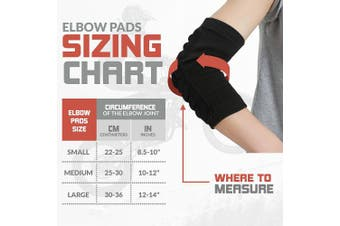 (Small) - Bodyprox Elbow Protection Pads 1 Pair Elbow Guard Sleeve