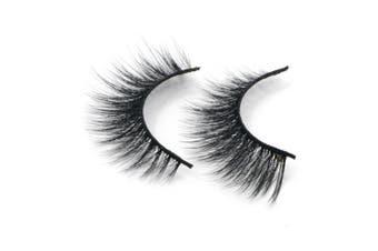 (D18) - Arison Lashes Fake Eye Lash False Eyelashes 3D fibre Pure Hand-made Natural Look for Makeup (1 Pair)