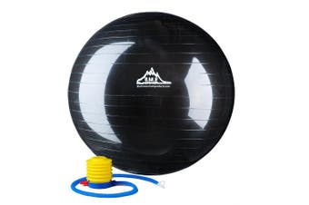 (45 cm Black Gym Ball, Black) - Black Mountain Products 910kg Static Strength Exercise Stability Ball with Pump