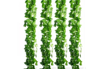 CEWOR 36pcs (70m) Artificial Ivy Fake Greenery Vine Leaves for Home Wedding Garden Swing Frame Decoration