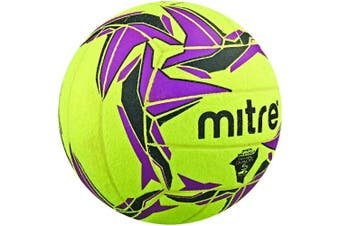 (Size 4, Without Ball Pump, Yellow (Yellow/Black/Purple)) - Mitre Cyclone Indoor Football (Old Version)