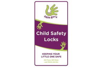 Ickle.guru Child Safety Locks (4 locks) Easy instal to cupboards and drawers - no screws or drilling, new innovative design without the need for magnets