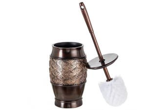 (Toilet Brush) - Creative Scents Dublin Decorative Toilet Cleaning Bowl Brush with Holder (13cm x 13cm x 39cm H) Decorative Bowl Scrubber, Space Saving Design, Contemporary Scrubbing Cleaner (Brown)
