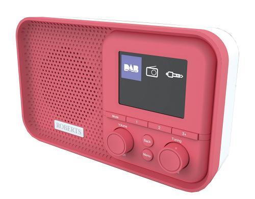 Yellow Roberts Radio PLAYM5 DAB//DAB+//FM Digital Radio with Any-Button Snooze