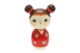Usaburo Japanese Kokeshi Doll: Little Sister Akari #590-224