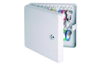 (30 Key, Lockable Key Safe) - Helix Key Safe Cabinet (30 Key Capacity), Grey