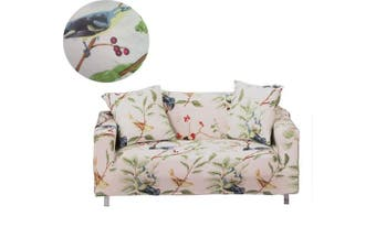 (4 Seater, Bird Pattern) - Sofa Slipcover Stretch Fabric Flower Bird Pattern Elastic Chair Loveseat Couch Settee Sofa Covers 1-Piece Pet Dog Protector (4 Seater, Bird Pattern)