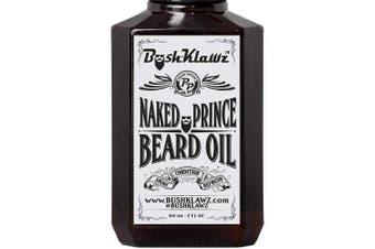 (Beard Oil 60ml, Naked Prince) - Naked Prince Scent Free Beard Oil Conditioner Premium Beard Moisturiser Scentless Fragrance-Free Great for Hunters and Outdoorsmen 60ml - Best Leave In Conditioner Beard Oil for Bearded Men