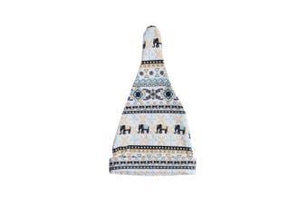 (One Size, Elephant White) - Lofbaz Cotton Spandex Infant Unisex Baby Adjustable Knot Hat