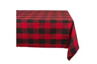 "(70""x160"" Tablecloth) - Fennco Styles Buffalo Plaid Cheque Classic Cotton Blend Tablecloth (180cm x 410cm Tablecloth)"