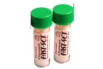 2 X Rennet Chymosin Fast-Set 7 grammes Mix for 50 Litres of milk Rennin Cheese salt & Coagulant Tub