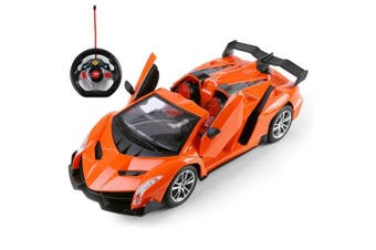 High Powered Radio Remote Control Sport Racing Car 1:16 Scale Electric RC Model Car, Orange