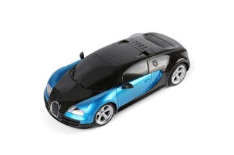Extreme Exotic Drifter Sports Race Car Fully Functional 1:18 Scale Black with Blue