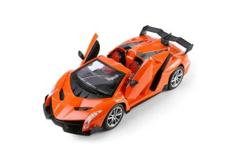Fire Orange RC Fully Functioning Drifter Race Car Convertible 1:16 Scale