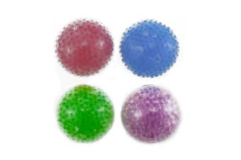 4PCS BcPowr Four Colours Bead Squeezing Stress Ball, Squeezing Stress Relief Ball For Boy, Girls & Adults, Stress Relief Squeezing Soft Vent Ball Hand Wrist Toys, Vent Toys.(Colour Random)