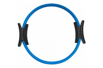 """(blue) - Prosource Fit Pilates Resistance Ring 14"""" Dual Grip Handles for Toning and Fitness-Choose Your Colour"""