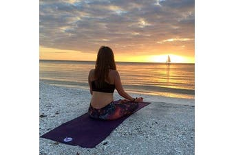 (Seamist) - Aurorae Classic Extra Thick 0.6cm and Long 180cm Premium Eco Safe Yoga Mat with Non Slip Rosin included