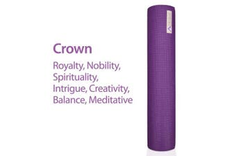 (Crown) - Aurorae Classic Extra Thick 0.6cm and Long 180cm Premium Eco Safe Yoga Mat with Non Slip Rosin included