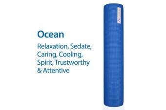 (Ocean) - Aurorae Classic Extra Thick 0.6cm and Long 180cm Premium Eco Safe Yoga Mat with Non Slip Rosin included