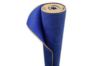 (SAPPHIRE) - Aurorae Synergy 2 in 1 Yoga Mat; with Integrated Non Slip Microfiber Towel. Best for Hot, Ashtanga, Bikram and Active Yoga Where You Sweat and Slip