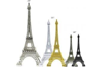 (25cm , White) - Allgala 25cm Eiffel Tower Statue Decor Alloy Metal, White