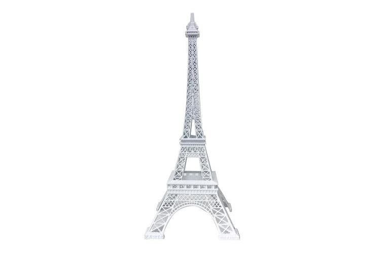 Allgala 25cm Eiffel Tower Statue Decor Alloy Metal, White