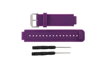 (purple) - Bossblue Replacement Band for Garmin Vivoactive, Silicone Replacement Fitness Bands Wristbands with Metal Clasps for Garmin vivoactive GPS Smart Watch