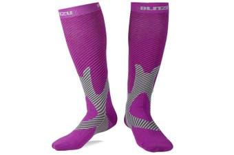 (Large/X-Large, Black) - BLITZU Compression Socks 20-30mmHg Men Women Recovery Running Medical Athletic Edoema Diabetic Varicose Veins Travel Pregnancy Relief Shin Splints Nursing