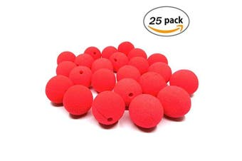 Clown nose,Dancepandas 25 Pcs Red Foam Nose for Party Halloween Costume Supplies Red Nose Day Party