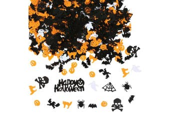 (Halloween Confetti 160) - Aneco 160g Happy Halloween Confetti Spider Witch Pumpkin Cat Ghost Bat Skeleton Sprinkles Table Confett Halloween Night Party Decoration