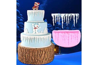 Fondant Cake Ribbon Mould, Lace Fondant Cake Moulds Frozen Silicone Mould Ice and ice curling ice Cake Tool Cake Mould Decorating of Aixin