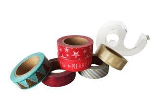 Washi Tape Set Christmas, 6 x 10 M roller