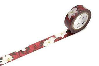 """MT """"Christmas Poinsettia"""" Washi Masking Tape"""