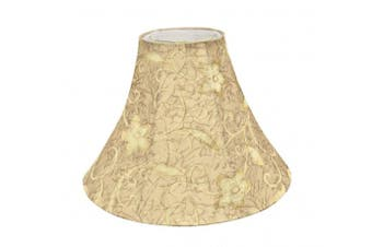Aspen Creative 30084 Transitional Bell Shape Spider Construction Lamp Shade in Brown, 41cm Wide (15cm x 41cm x 30cm )