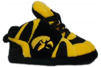 (Iowa Hawkeyes) - Happy Feet and Comfy Feet OFFICIALLY licenced NCAA College Baby Slippers - UP TO 9 MONTHS