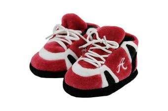 (Alabama Crimson Tide) - Happy Feet and Comfy Feet OFFICIALLY licenced NCAA College Baby Slippers - UP TO 9 MONTHS