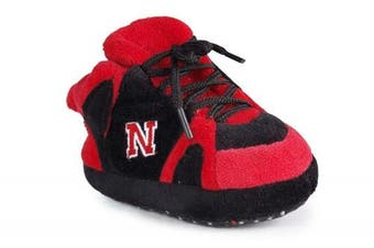 (Nebraska Cornhuskers) - Happy Feet and Comfy Feet OFFICIALLY licenced NCAA College Baby Slippers - UP TO 9 MONTHS