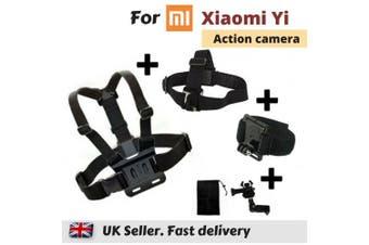 Set of 3 Chest Head Wrist Strap for Xiaomi Yi 4K XiaoYi Yi Action Sports Camera