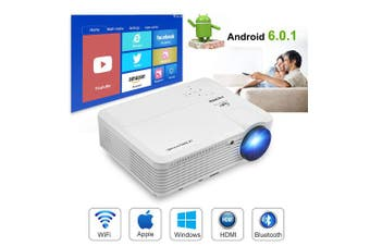 Home Theatre Projector (4500 Lumens Projector 1080p WiFi Bluetooth)