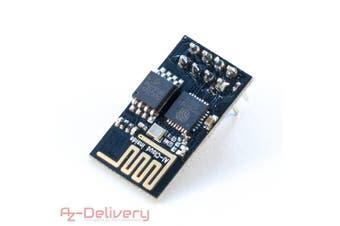 (1x ESP8266-01) - Azdelivery ESP8266 WLAN/WiFi Module for Arduino, Raspberry Pi and microcontroller 1x ESP8266-01