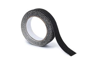 (500 x 2.5 x 2.5 cm) - Relaxdays Anti-Slip Tape 5 m Grip Tape Anti Slip for Non-Slip Steps Traction For Indoor And Outdoor Use, 25 mm, Black