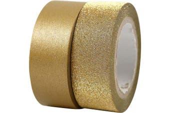 Design Tape, W: 15 mm, gold, Copenhagen, 2rolls