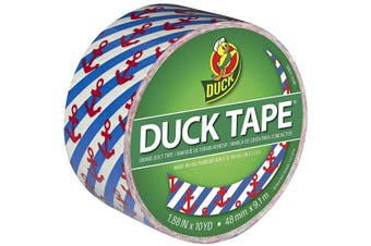(Hanker for an Anchor) - Duck Brand 283925 Printed Duct Tape, Hanker for an Anchor, 4.8cm x 10 Yards, Single Roll